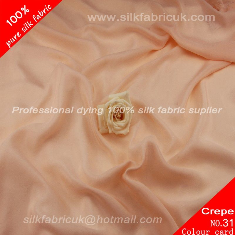 14mm silk crepe de chine fabric-peach http://www.silkfabricuk.com/14mm-silk-crepe-de-chine-fabricpeach-p-408.html
