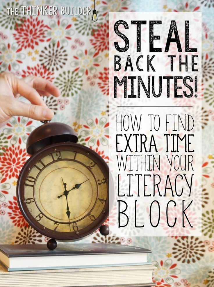 Steal Back the Minutes! Finding Extra Time in Your Literacy Block - time clock sheet template