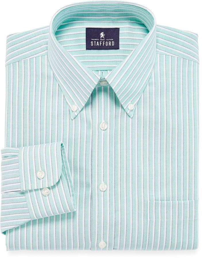 stafford stafford travel wrinkle free oxford dress shirt