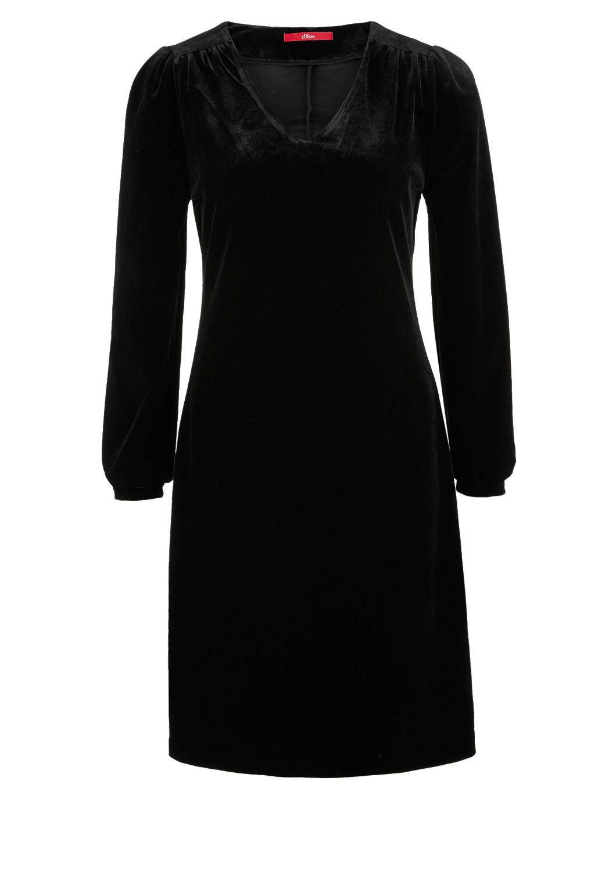 Elegantes Kleid Aus Samt Von S Oliver Entdecken Sie Jetzt Topaktuelle Mode Fur Damen Herren Und Kinder Und Bestellen Sie Onli Elegante Kleider Kleider Outfit