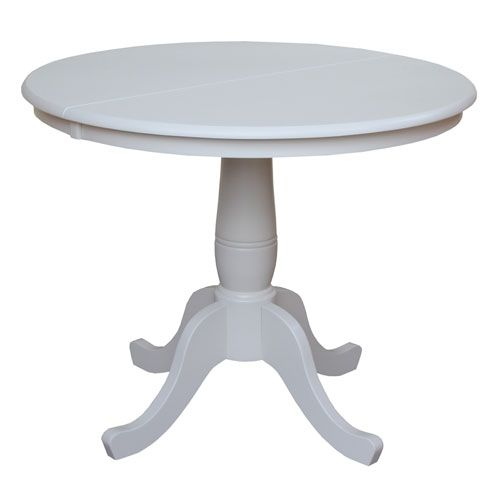 Linen White 36 Inch Round Pedestal Dining Table Round Pedestal Dining Round Pedestal Dining Table Dining Table