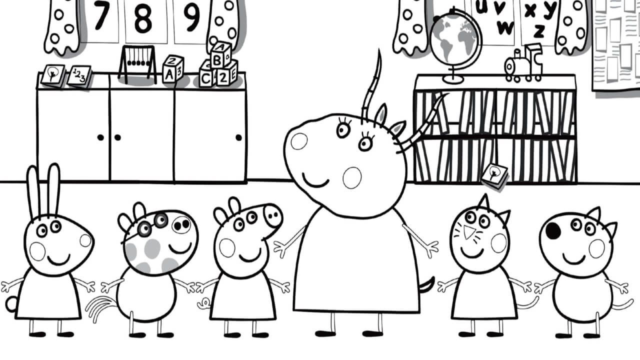 Peppa Pig Coloring Pages Coloring Rocks Peppa Pig Colouring Peppa Pig Coloring Pages School Coloring Pages