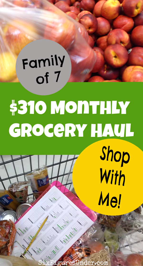 October Monthly Grocery Haul ($310 for a family of 7 | The