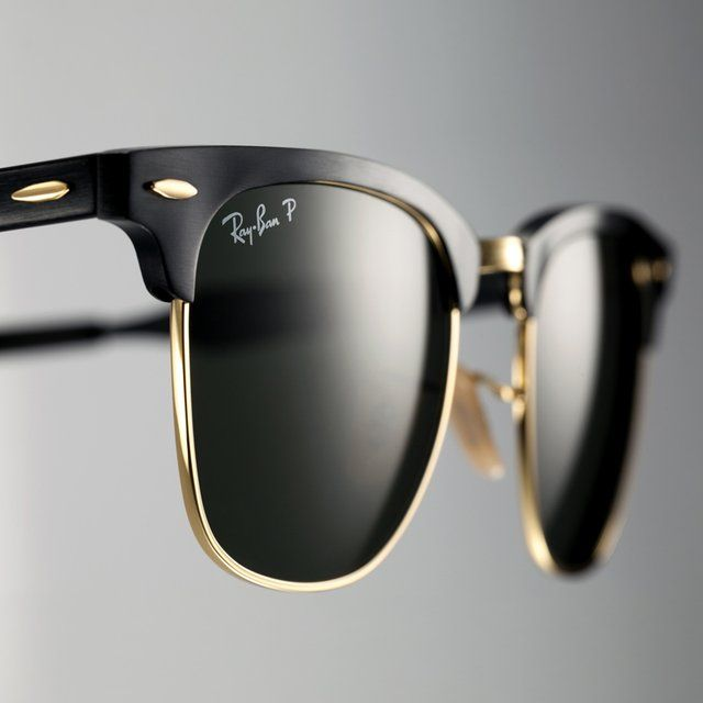 ray ban the clubmaster  Ray-Ban Black Aluminum Clubmaster Sunglasses