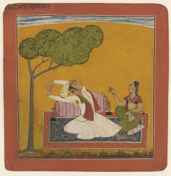 Vihagra Raga-Putra son of Sri Raga from a Ragamala. Basholi, India ca. 1690