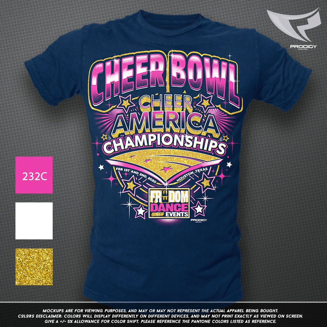 Glitter ink is the newest trend in cheer apparel! Prodigy