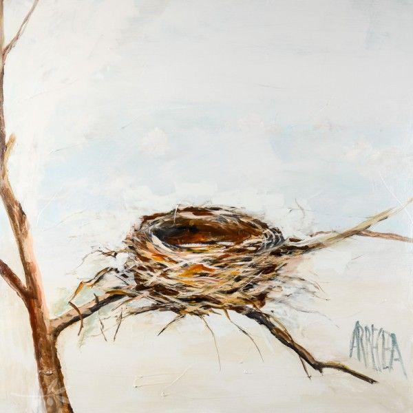 Nest Painting Bird Nest Painting Birds Painting Watercolor Art