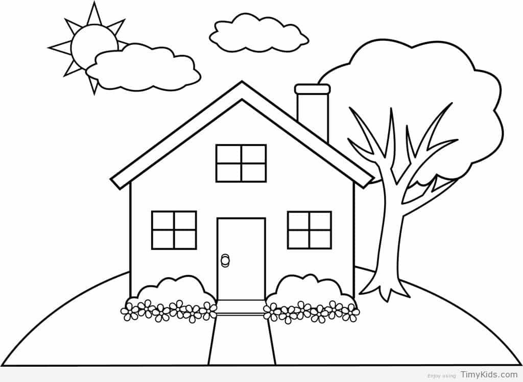 20 Colouring House Pages With Images House Colouring Pages