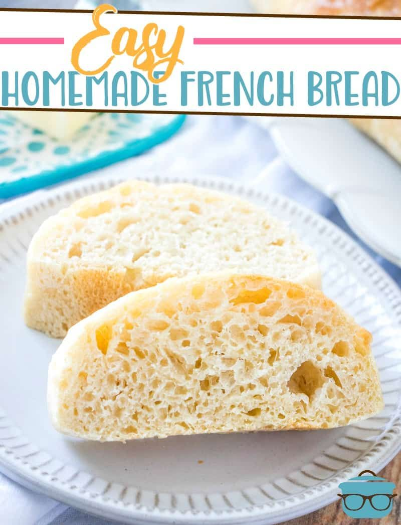 Easy homemade french bread | Recipe in 2020 | Easy french ...
