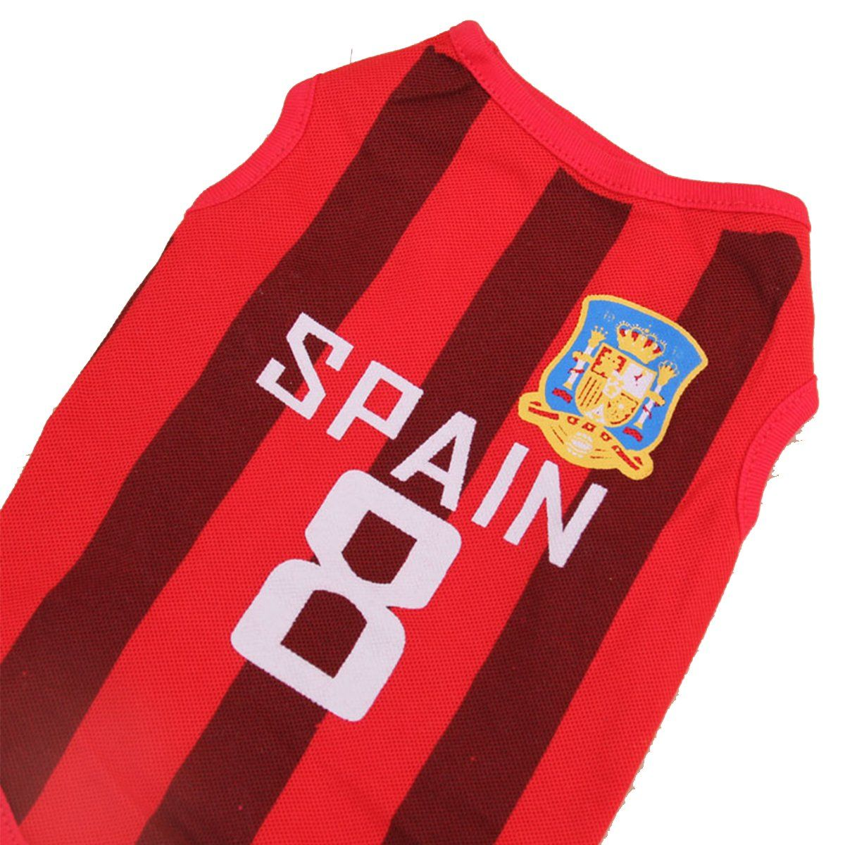 0cc8c29e1 SymbolLife Dog Clothes Football Tshirt Dogs Costume National Soccer World  Cup FIFA Jersey for Pet Spain    Remain to the item at the picture link.