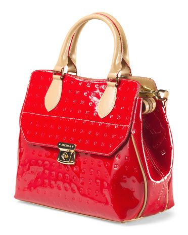 Made in Italy Acacia Embossed Satchel