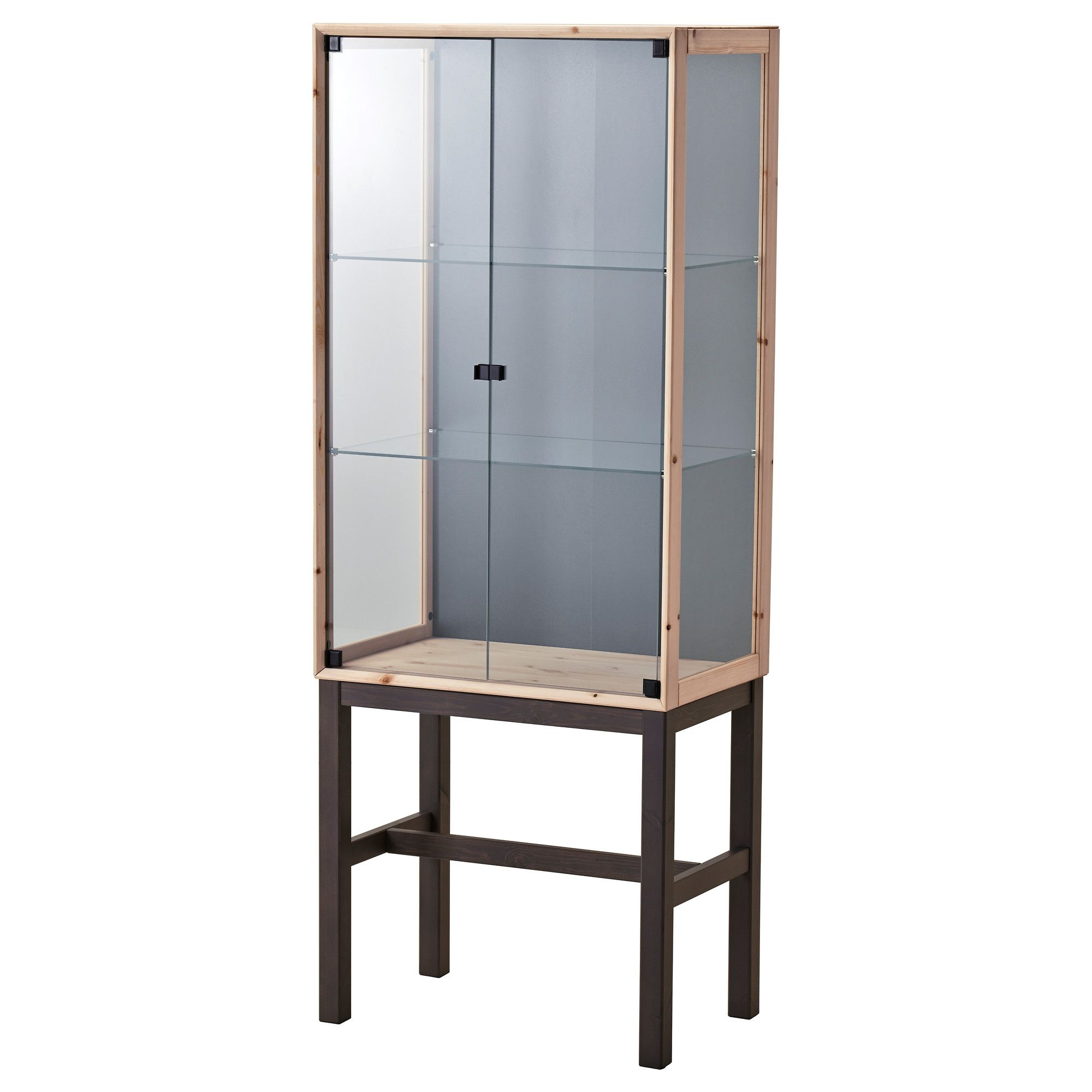 Schaukasten Holz Ikea Ikea NornÄs Glass Door Cabinet With 2 Doors Untreated
