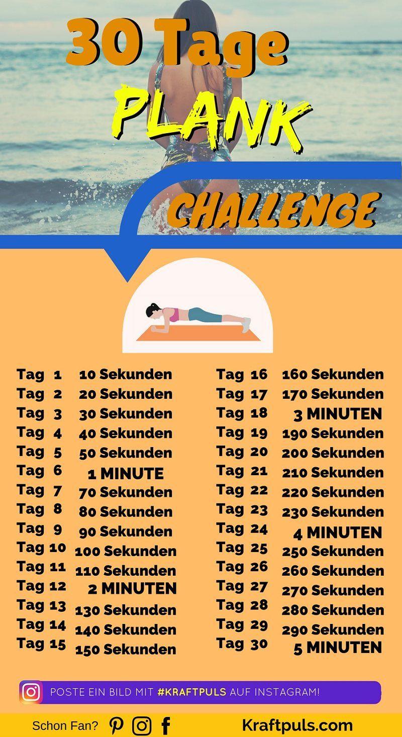 30 Tage Plank Challenge So Stärkst Du Deine Bauchmuskeln Und
