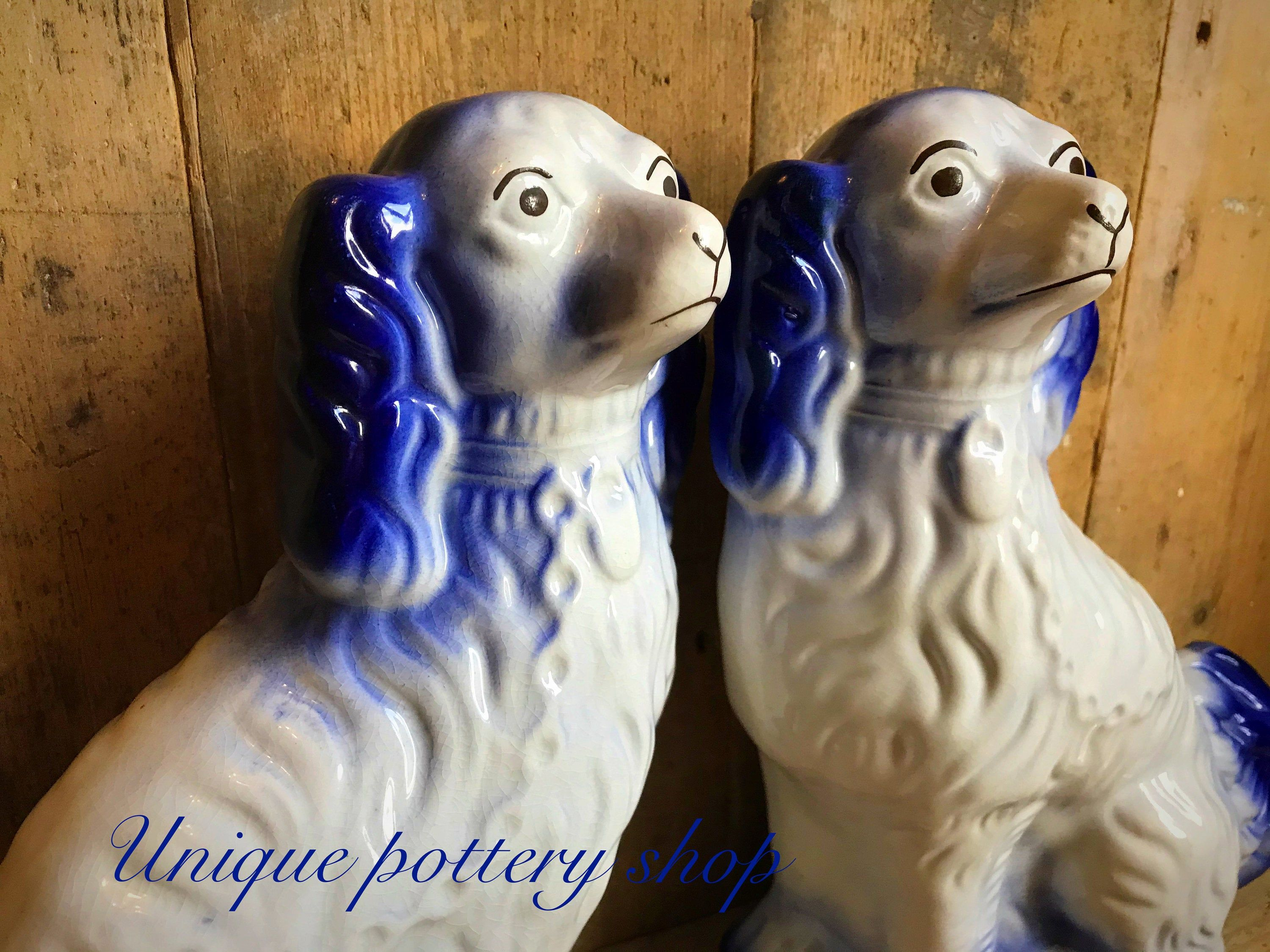 Antique Pair Of Staffordshire Dogs
