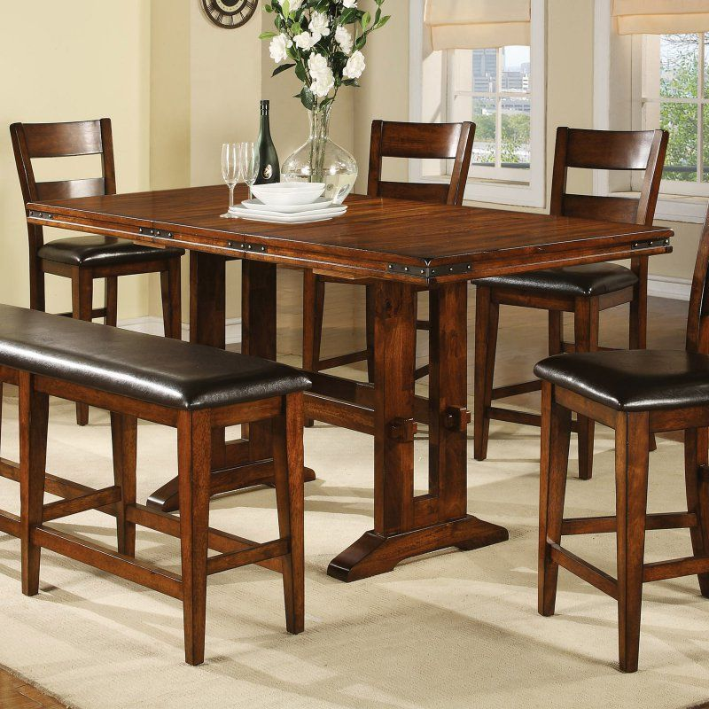 Winners Only Mango Counter Height Dining Table With 18 In Butterfly Leaf