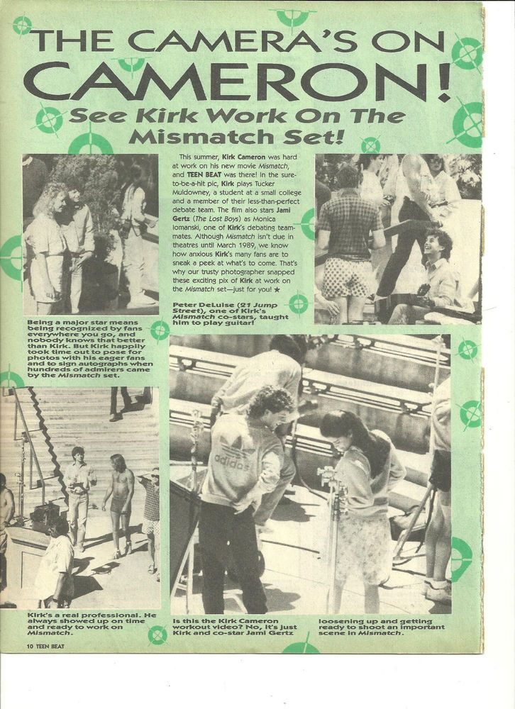 Kirk Cameron, Full Page Vintage Clipping, The Camera's On Cameron