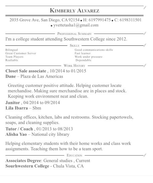 Resume boo Resume Pinterest - janitor resume