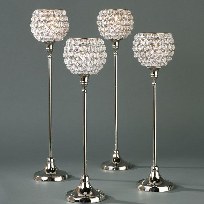 Tall candle holders creamy wedding pinterest