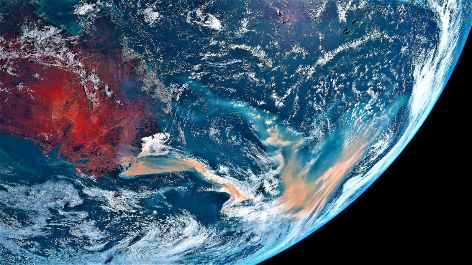 Australia this is what the fires look like from space in