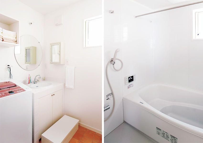 あこがれのビルダーと意気投合してつくり上げたシンプルでかわいい家 家 洗面 グローエ