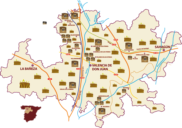 Situación geográfica Localización D.O. Tierra de León
