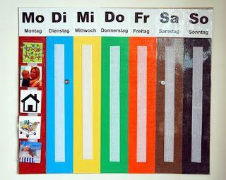 Felix DIY Wochenkalender  Kiga  Wochen kalender Kalender fr kinder und Wochenkalender