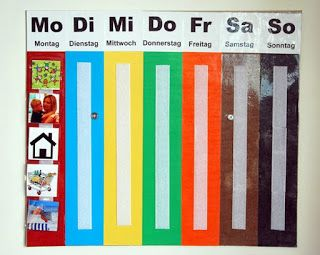 Felix Diy Wochenkalender Wochenplan Diy For Kids