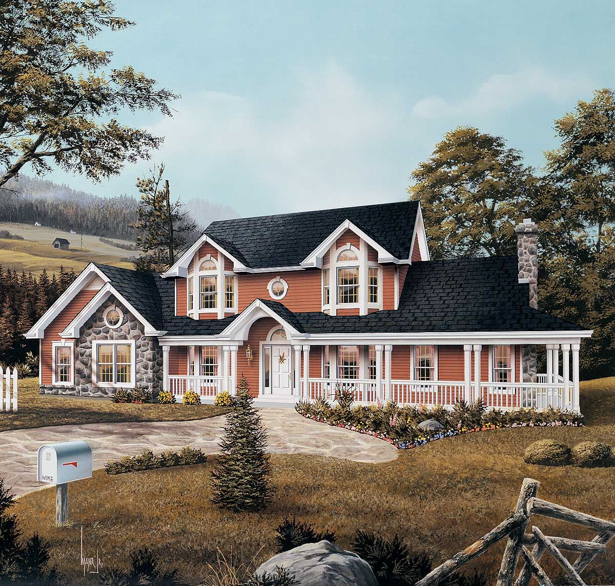 5 bedroom farmhouse plans with wrap around porch