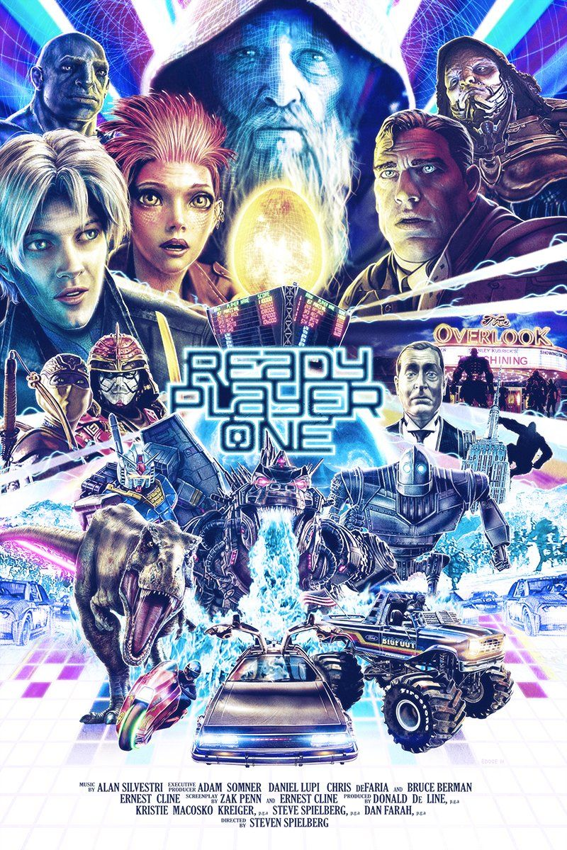 Ready Player One 2018 800 1200 By Eddie Holly In 2020 Ready Player One Movie Ready Player One Geek Movies