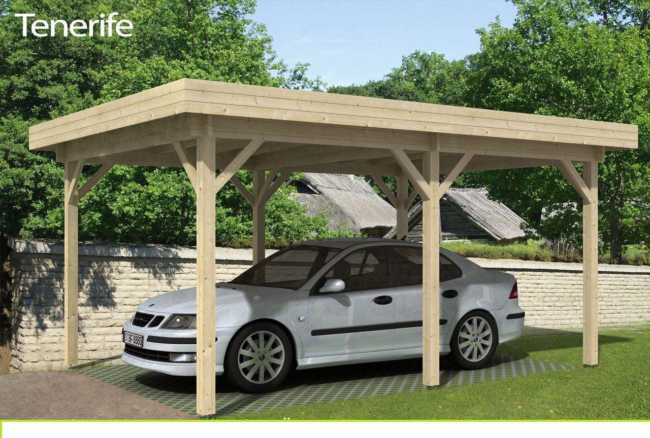 Frisch Holz Carport Tenerife - A-Z Gartenhaus-GmbH Ein Carport bedeutet  LD04