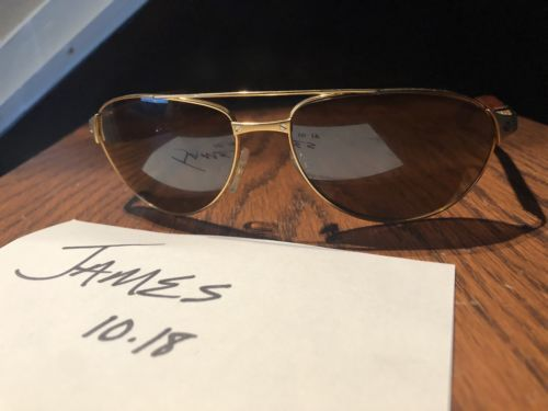 39829602f1ee2 3295 Authentic Cartier Santos Dumont Limited Edition Gold Sunglasses. Wood