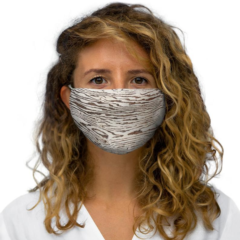 Photo of Rustica White Painted mask Snug-Fit Polyester Face Mask