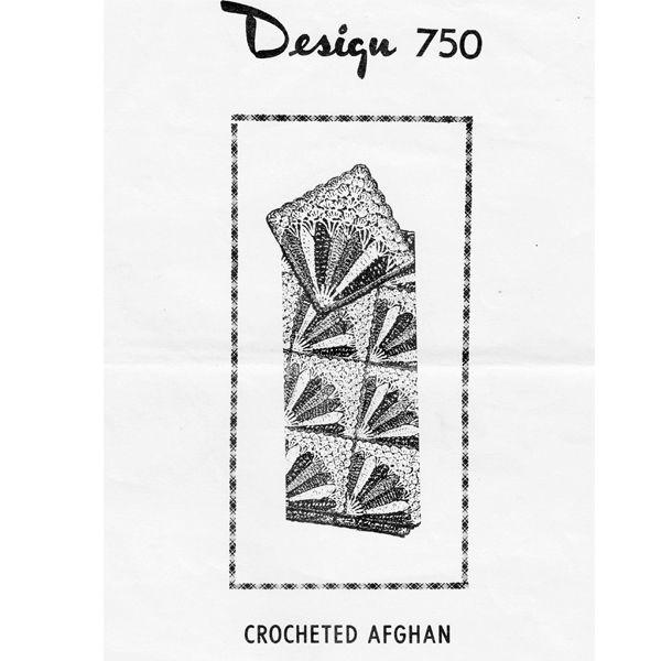 Crochet Fan Afghan Pattern is Laura Wheeler 750