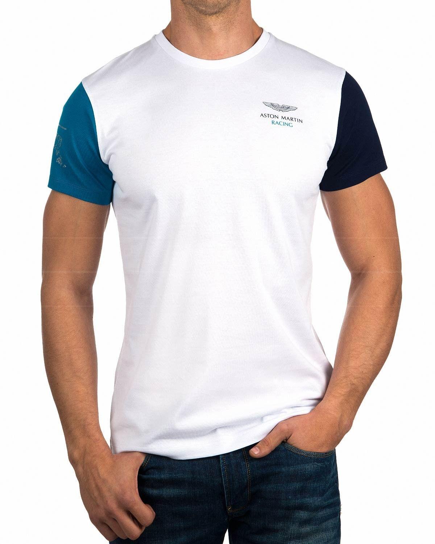 Camiseta Hackett ® Aston Martin - Blanca Multi Tee  6ddf89b26409a