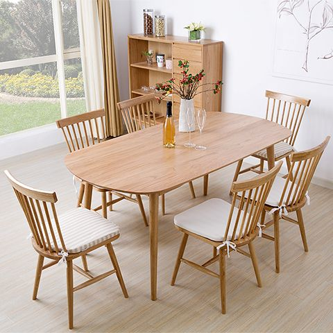 Japanese White Oak Solid Wood Dining Table And Creative Fashion Captivating Scandinavian Dining Room Sets Inspiration