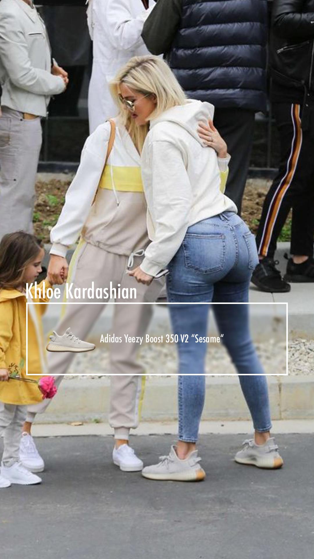 Sesame Yeezy Outfit : sesame, yeezy, outfit, Khloe, Kardashian:, Adidas, Yeezy, Boost,