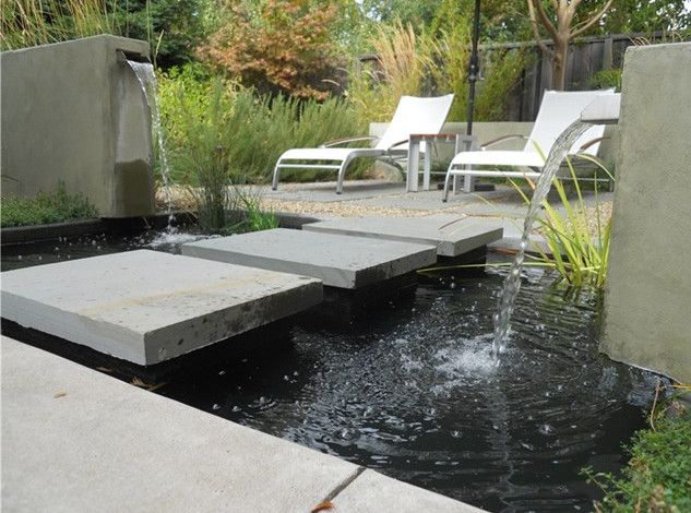 Modern Garden Pond Ideas Pools Backyards Pinterest Garden