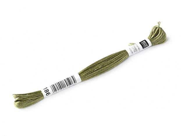 Echevette de coton mouliné de 8 m - Vert 3052