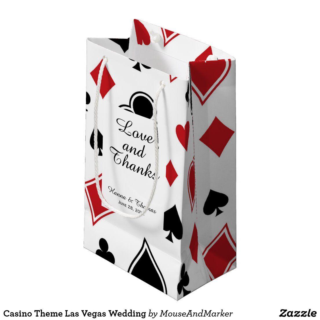 Casino Theme Las Vegas Wedding Small Gift Bag