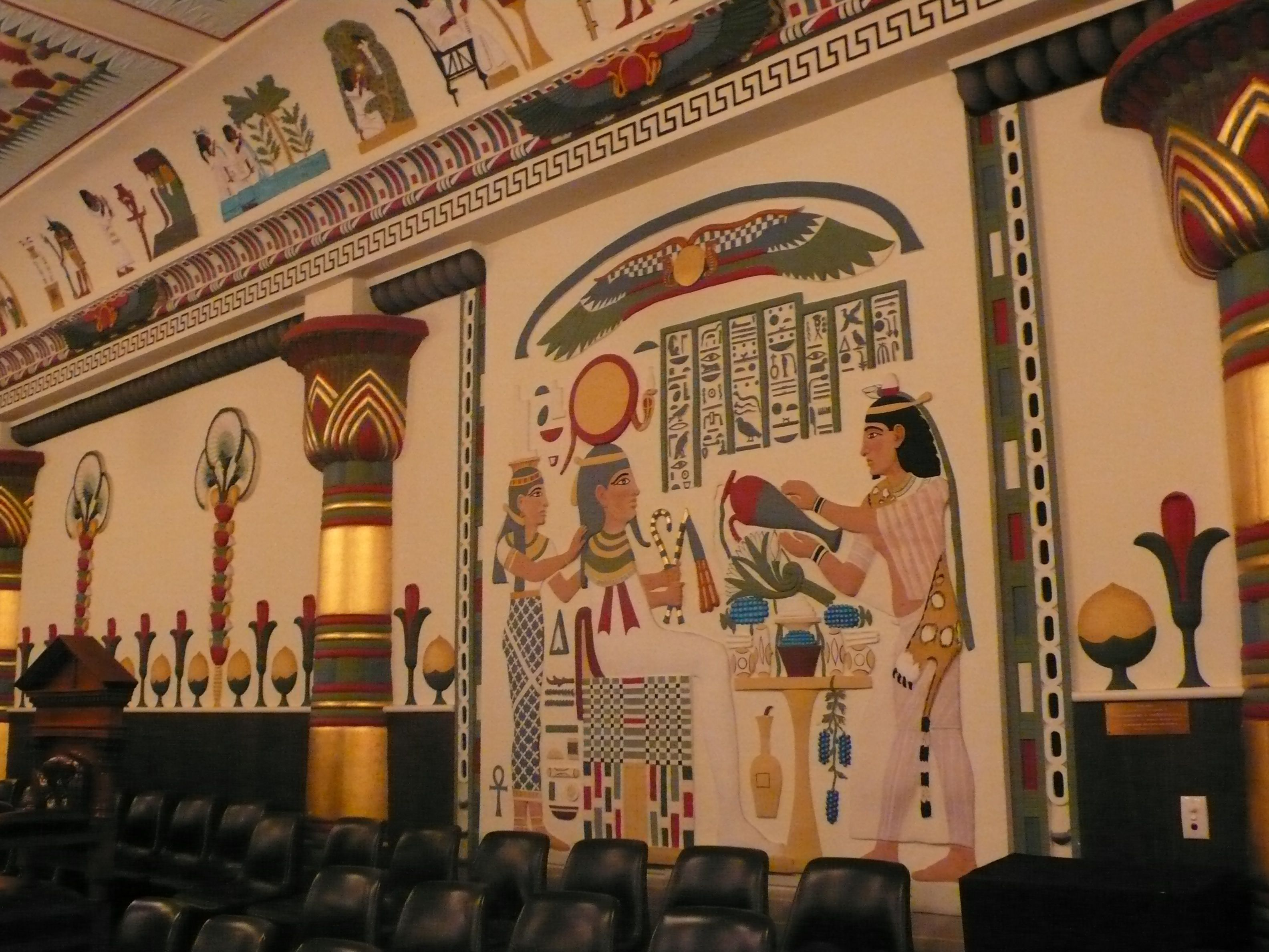 Ancient Egypt In Petersham The Egyptian Room At Masonic Centre