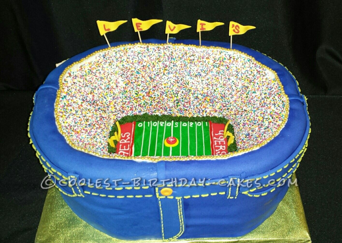 Admirable Coolest Football Stadium Cake Cool Birthday Cakes Cake Designs Funny Birthday Cards Online Overcheapnameinfo