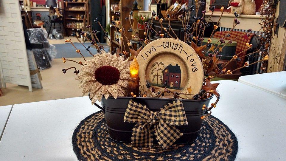 Primitive Centerpiece Primitive Decorating Country Primitive Kitchen Table Centerpieces Diy