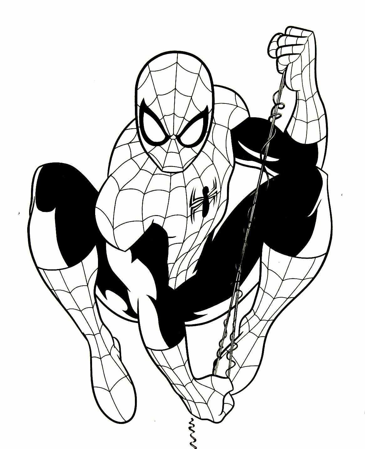 Spiderman Coloring Book Page Spiderman Coloring Coloring Books