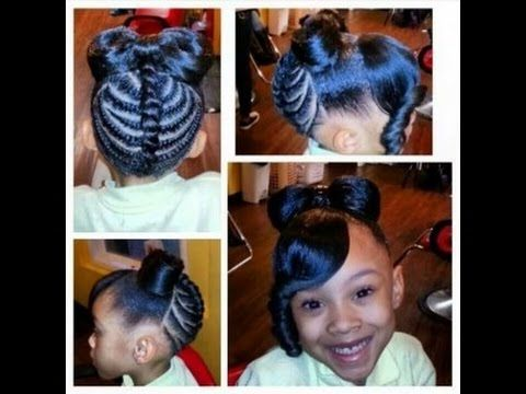 Stinkin Cute Black Kid Hairstyles You Can Do At Home Kids Hairstyles Lil Girl Hairstyles Hair Styles