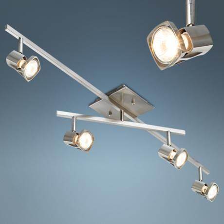 adjustable lighting fixtures. Pro Track® 200 Watt 2-Tier Adjustable Ceiling Light Fixture Lighting Fixtures O