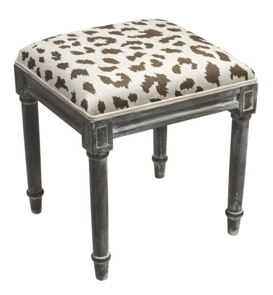 123 Creations Animal Print Vanity Stool With Rustic Finish An Perfect Combination Of And