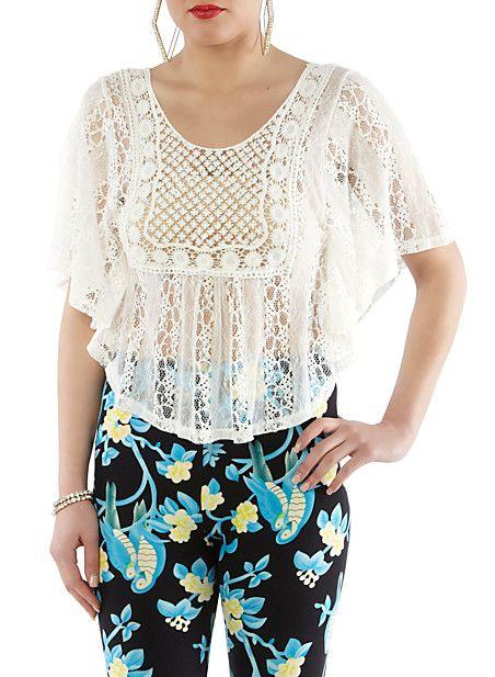 Hipster Crochet Poncho