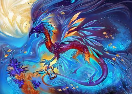 Dragons Fantasy Art Static Coral Reef 1600x1146 Wallpaper Art Hd Wallpaper Fantasy Dragon Art Wallpaper Art