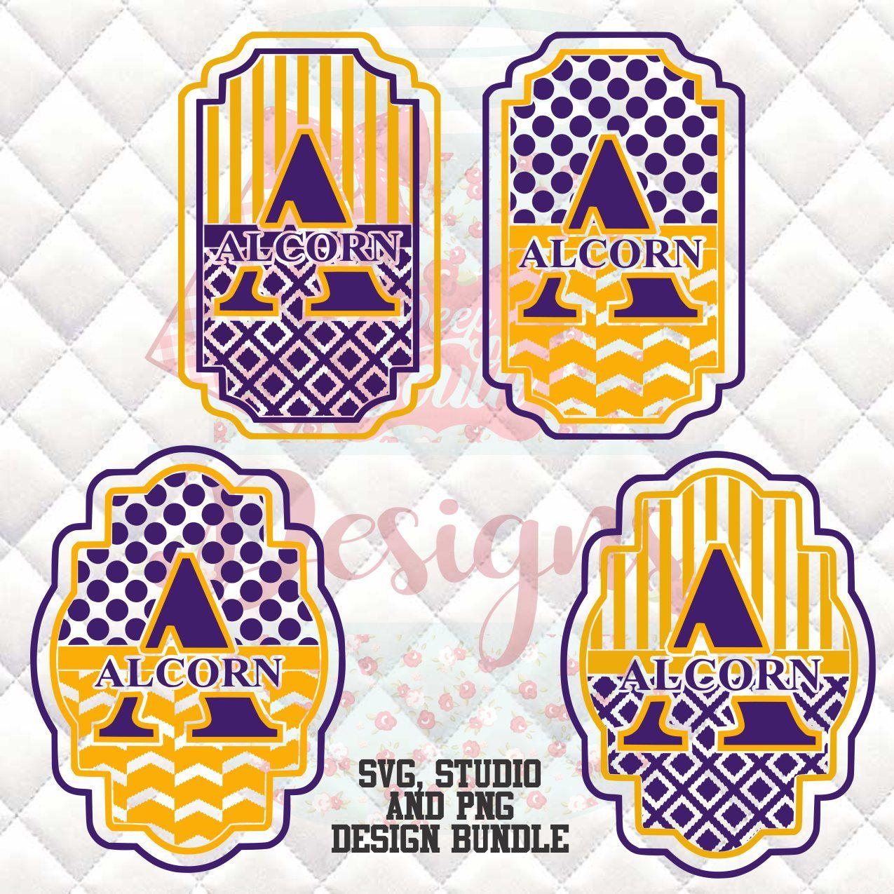 1fc7a37f Alcorn State Braves SVG, Silhouette studio bundle - 4 design download