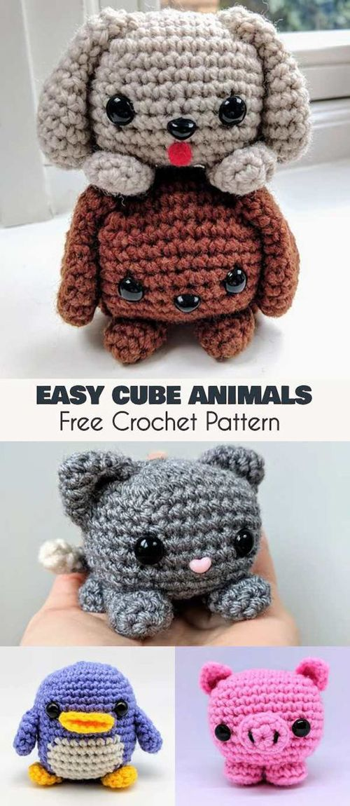 Easy Cube Animals – Free Amigurumi Crochet Pattern (Beautiful Skills – Crochet Knitting Quilting)